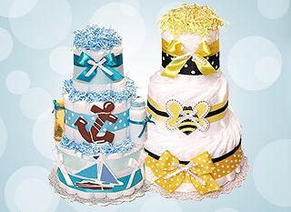 Торт из подгузников - лучший подарок будущей маме!